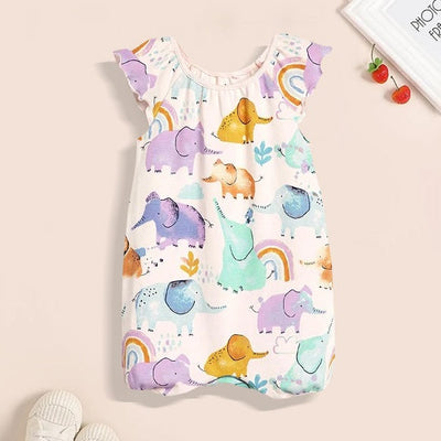 Lovely Watercolour Elephant Design Baby Romper