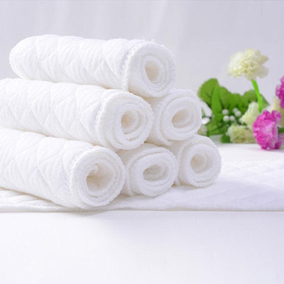 6Pcs Washable Reusable Absorbent Cotton Cloth Diaper