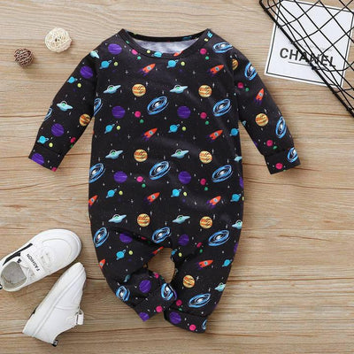 Cute Stars Universe Printed Baby Boy Girl Jumpsuit