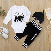 "3PCS Baby Boy ""Baby Bear"" Printed Long Sleeve Set"