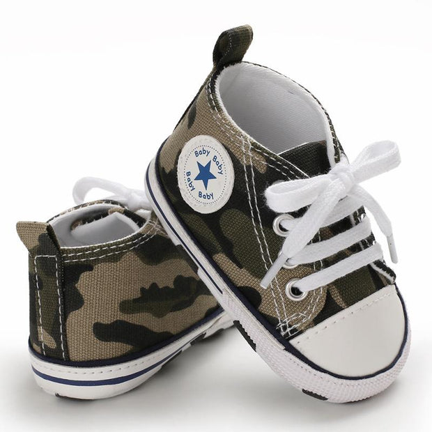 Baby Boy Girl Camouflage Anti-slip Canvas Shoes