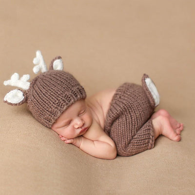 Little Deer Hand Knitted Baby Photography Clothing