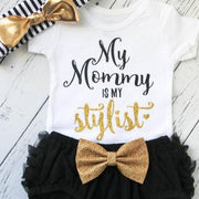 "3PCS ""My Mommy Is My Stylist"" Lovely Baby Set"