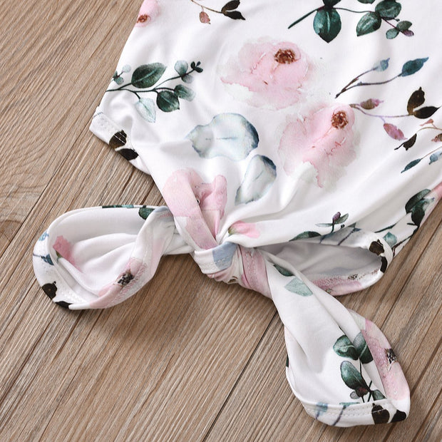 Cute Leaves And Flower Floral Printed Baby Sleeping Bag