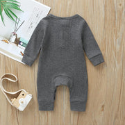 Lovely Solid Color Baby Jumpsuit