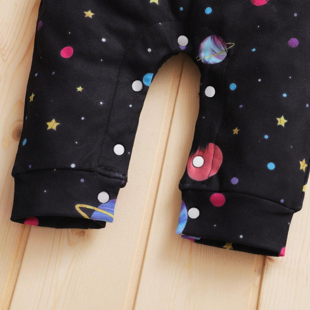 Baby Universe Star Printed Long Sleeve Jumpsuit