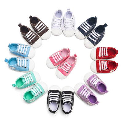 "Baby Boy Girl "" Baby "" Letter Printed Anti-slip Canvas Shoes"