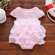 Bowknot Ruffled Layered Lace Bodysuit