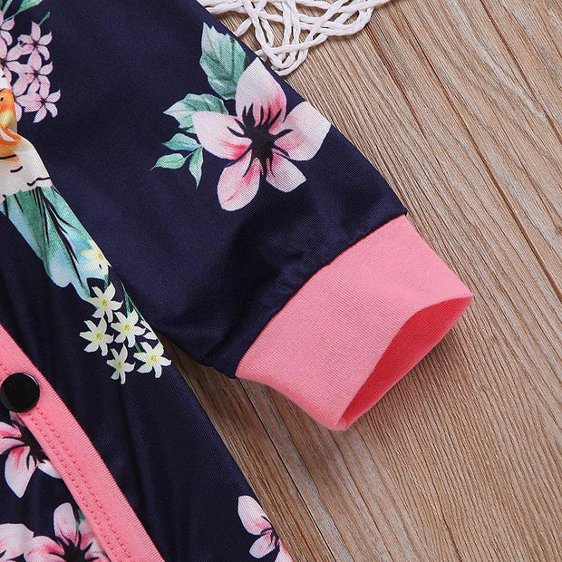 Floral Jumpsuit with Headband