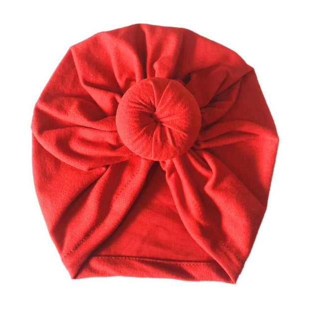 Cute India Turban Hats Baby Infant Donut Hat