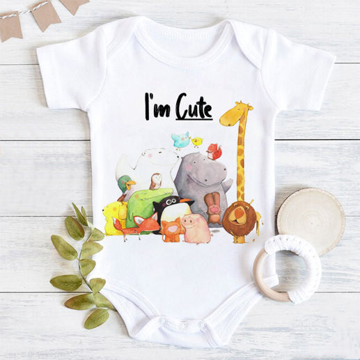 Lovely Animal Printed Baby Romper