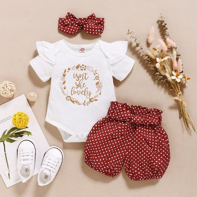 """Isn't she lovely"" Polka Dots Baby Set"