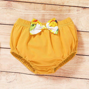 3PCS Pretty Sunflower Printed Baby Set