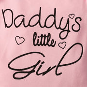 3PCS Daddy's Little Girl Camouflage Printed Baby Set