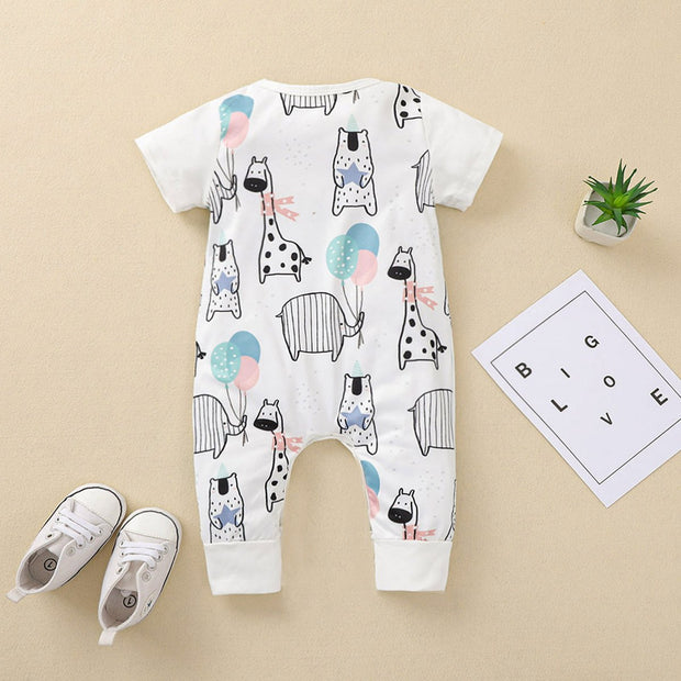 Cute Animal Printed Baby Jumpsuit