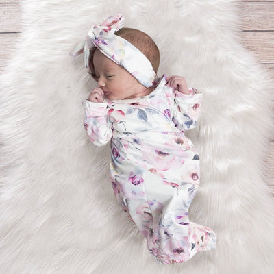 2PCS Lovely Floral Printed Baby Sleeping Bag