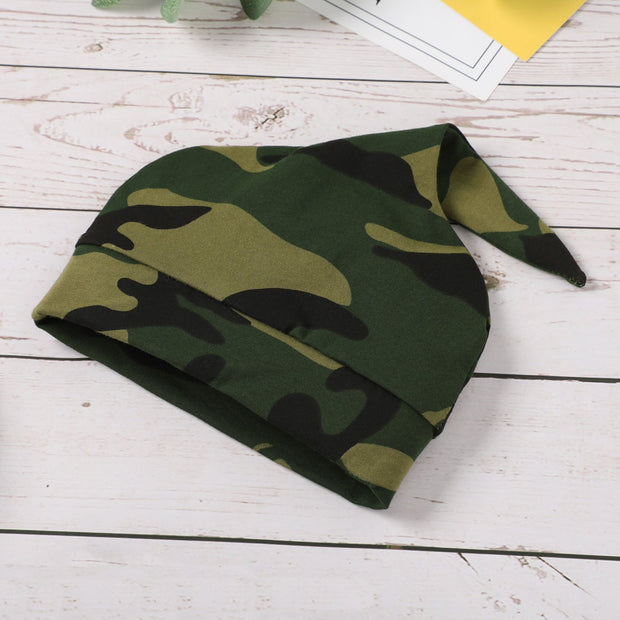 3PCS Lovely Camouflage Printed Baby Set