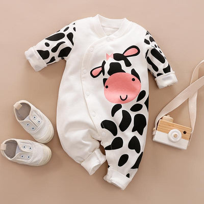 Cartoon Pattern Milk Cow Jumpsuit