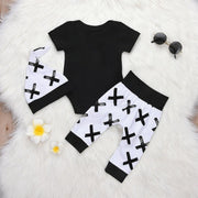 Baby Boy 3pcs  Ain't no mama like the one i got letter print Romper+ Pants+ Hat Outfits Set