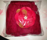 Newborn Photography Princess Tutu Skirt Headband-Burgundy