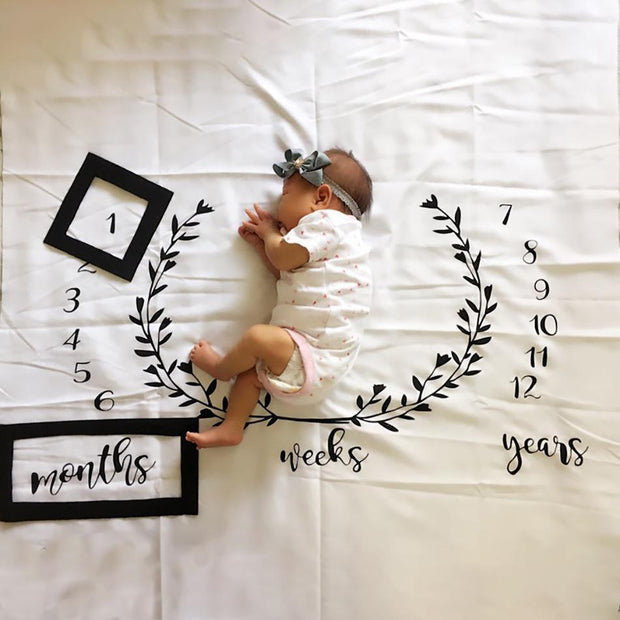 Creative Milestone Baby Photography Blanket