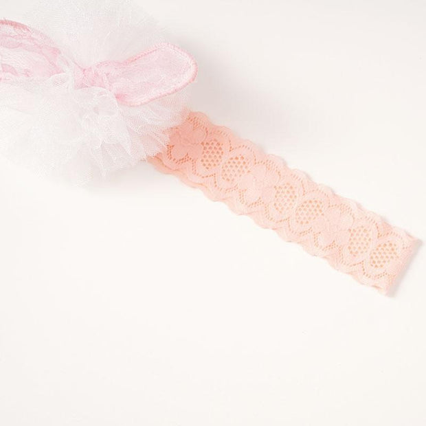 Baby Lovely Lace Crown Bow Headband and Floral Socks