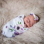 NewBorn Baby Floral Print Pajamas and Headband