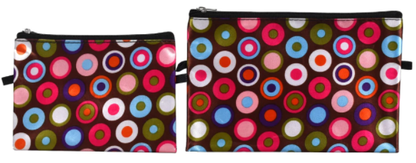 Sassy & Chic Zippered Cosmetic Bags, 2-ct - The Fierce Unlimited