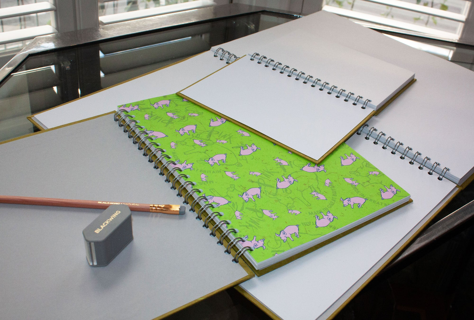 Pink Pig Notebooks - A3 Landscape 35 leaves