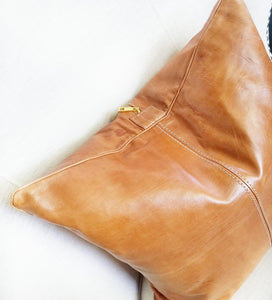 Genuine Leather Pillow