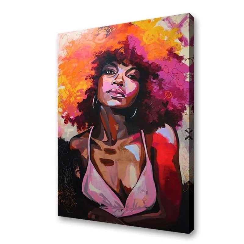 Brown Skin Girl - Canvas Wall Art