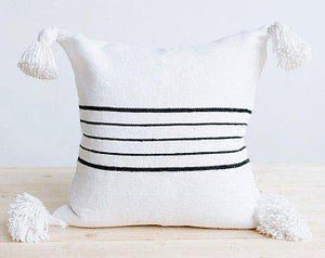 Moroccan Cotton Simple Striped Pillow