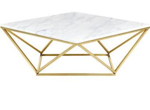 Marble & Brass Coffee & Accent Tables