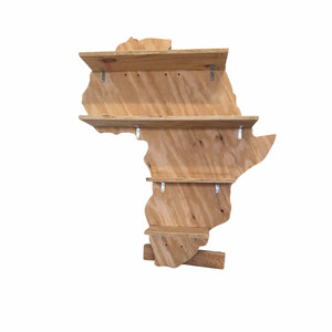 Large Africa Map Shelf