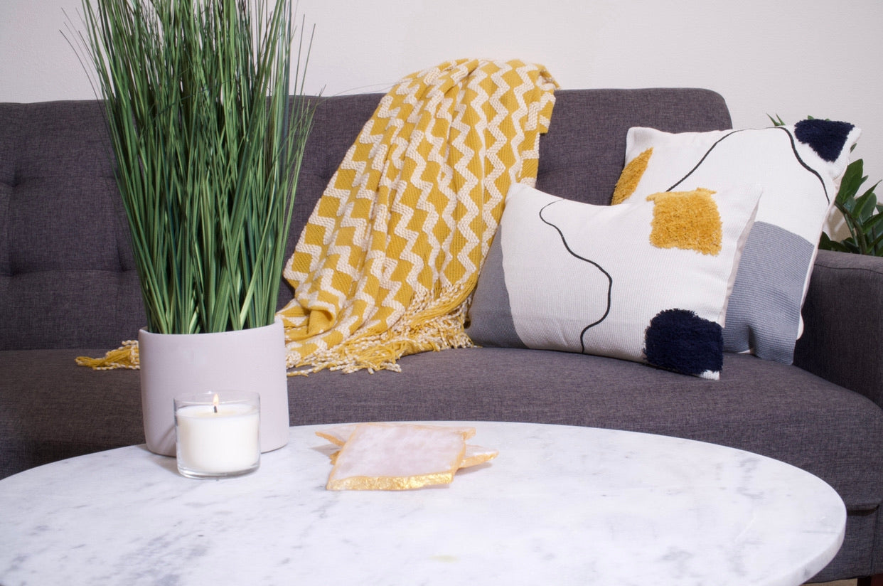 Colorful Tufted Pattern Lumbar Pillow