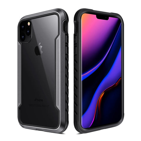 New Defender Anodized Aluminum TPU Clear PC Military Grade Metallic Protective Case For iPhone 11 Pro Max