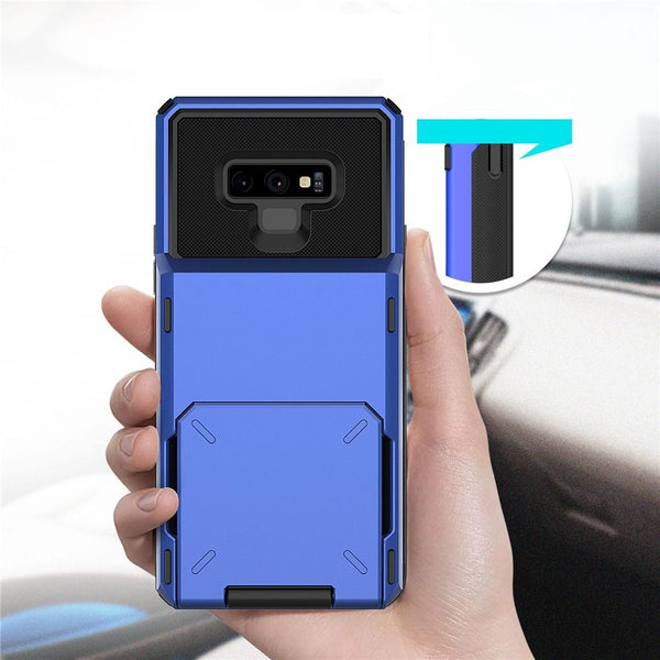 New Luxury Credit Card Slots Wallet Case For Samsung Galaxy S9 S10 S20 Note 9 10 Series