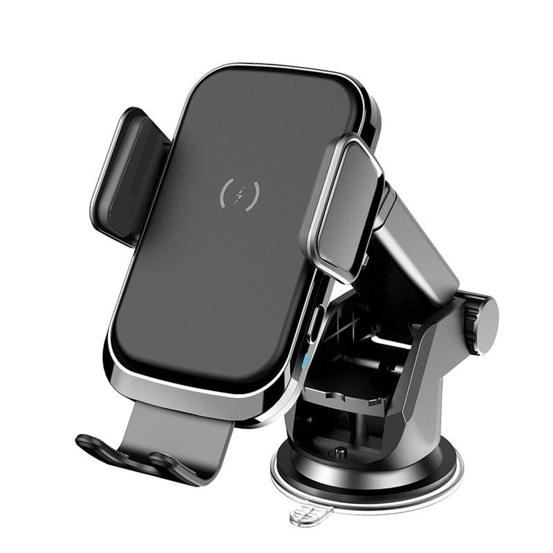 New Wireless Car Mount Fast Charging 15W Phone Holder Charger For Samsung iPhone Series