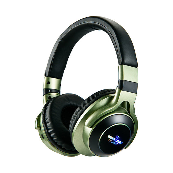 New LED Wireless Bluetooth 3D Stereo Headphones Headset For PC iPhone Androids