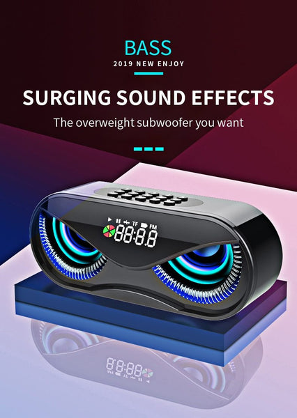New Portable Lightweight Bluetooth LED Wireless 6D Surround Sound Stereo Speaker