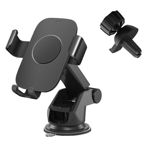 New Fast Charging Wireless Charger Car Mount Holder For iPhone Samsung Smart Phones