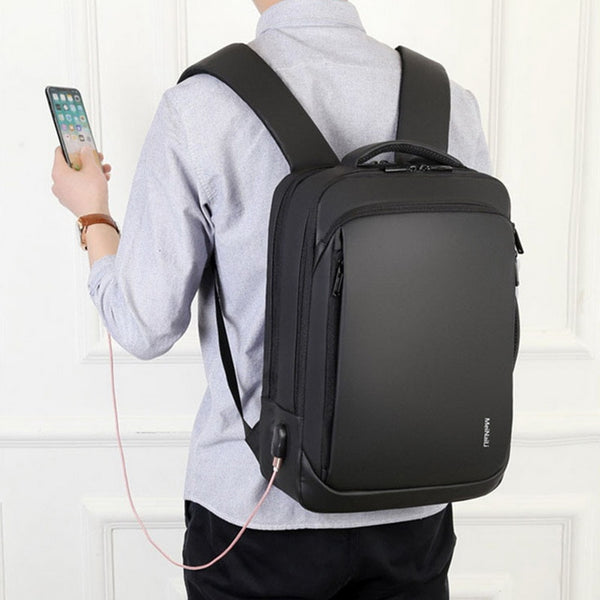 New 15.6 Inch Casual Laptop Water-Repellent Travel Backpack Bag For USB Charging