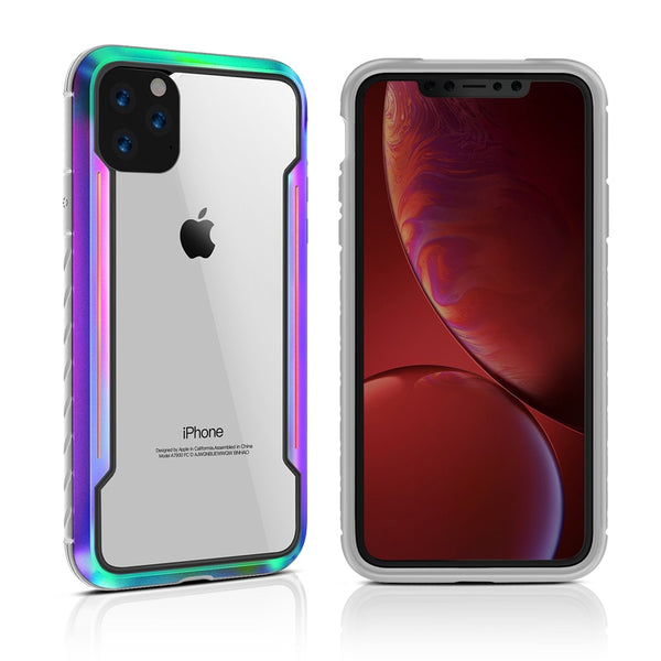 New Clear Back Hybrid Metal Silicon Colorful Luxury Case for iPhone 11 Pro X XS Max XR SE 2020