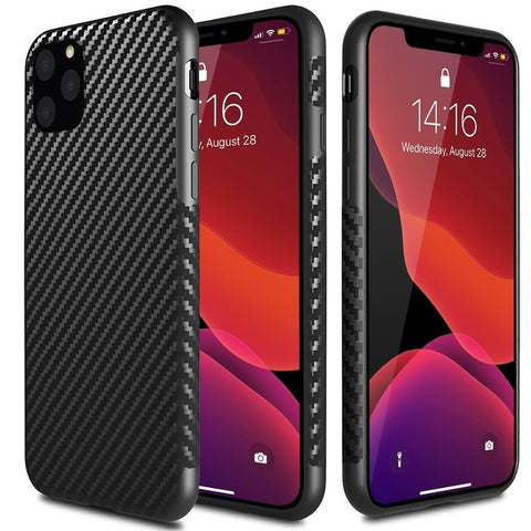 New Carbon Fiber Textured Protective Case for Apple iPhone 11 X XS XR SE 2020 Series