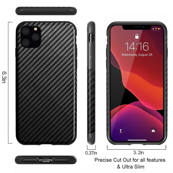 New Carbon Fiber Textured Protective Case for Apple iPhone 11 Pro MAX X XS XR SE 2020