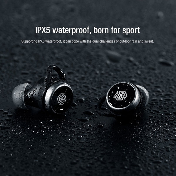 New IPX5 Water Resistant True Wireless Bluetooth In-Ear Sports Twin Earbuds Stereo Headset w/ Charge Case Microphone