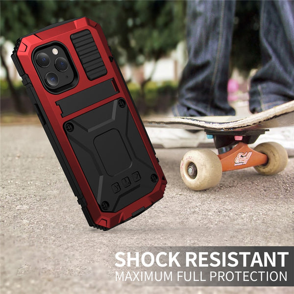 New Full Body Heavy Duty Kickstand Shock-Resistant Case Bumper Cover For iPhone 12 11 Pro Max XS Galaxy S21 S20 Note 20 Series