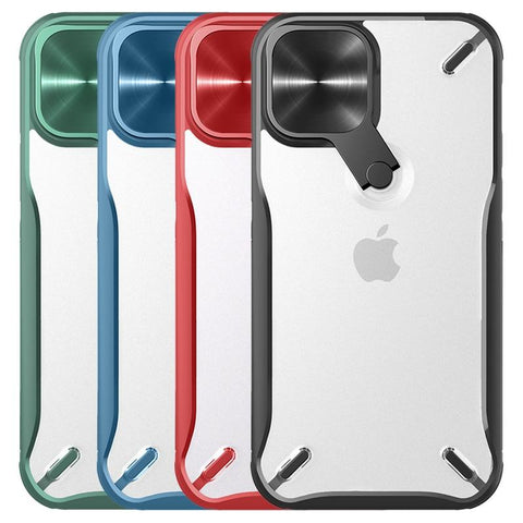 New Compact Camera Protection Cover Case With Kick Stand For iPhone 12 Mini Pro Max Series