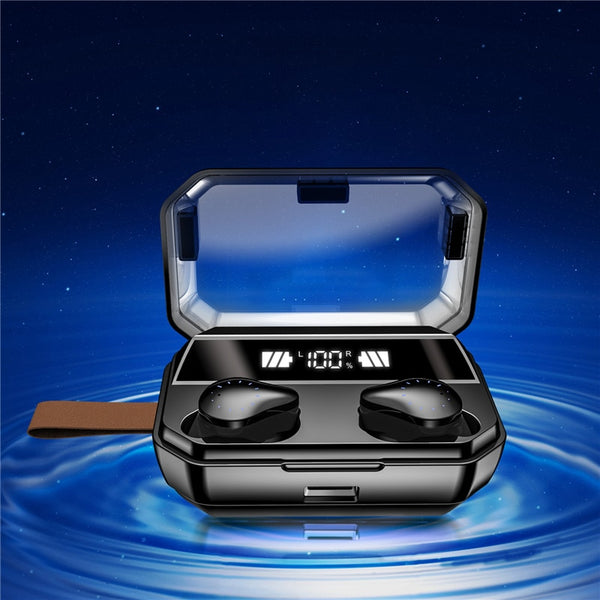 New HiFi True Wireless Bluetooth IPX7 Water-Resistant Earbuds 4000mAh LED For iPhone Androids