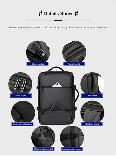 New Large Capacity USB Charge 15.6 Inch Anti-Theft Water-Repellent Travel Laptop Computer Bag Travel Backpack